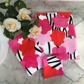 French Bull Oui MG Pink Floral 3-piece Towel Set