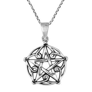 Handmade Gothic Pentagram of Brisingamen Sterling Silver Necklace (Thailand)