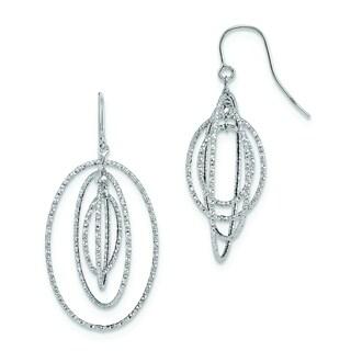 Versil 14k White Gold D/C Dangle Earrings