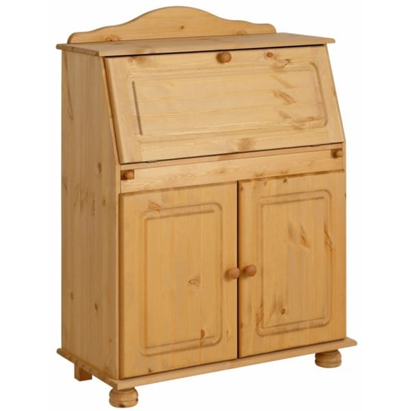 Mette Solid Pine Secretary Free Shipping Today