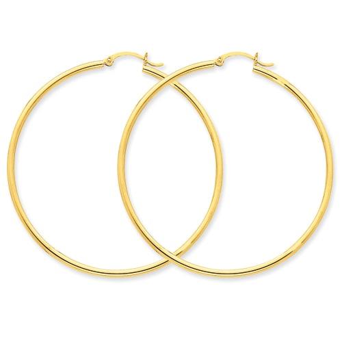 Versil 14k Gold Lightweight Hoop Earrings