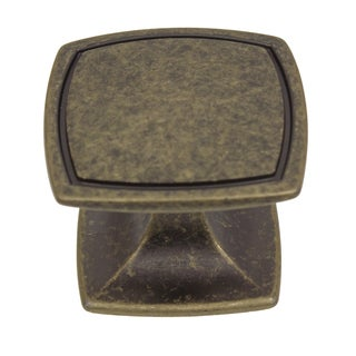 GlideRite 1.5-inch Aged Pewter Square Cabinet Knobs (Pack of 10 or 25)