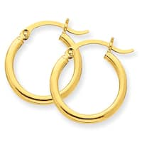 Versil 14 karat Lightweight Tube Hoop Earrings