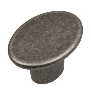 GlideRite 1.5-inch Aged Pewter Oval Cabinet Knobs (Pack of 10 or 25)