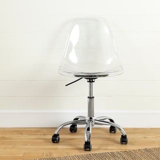 South Shore Furniture Clear Acrylic Wheeled Office Chair