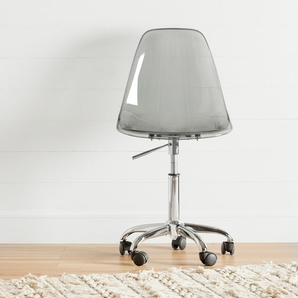South Shore Clear Acrylic Office Chair with Wheels - Free Shipping Today -  Overstock.com - 18424727