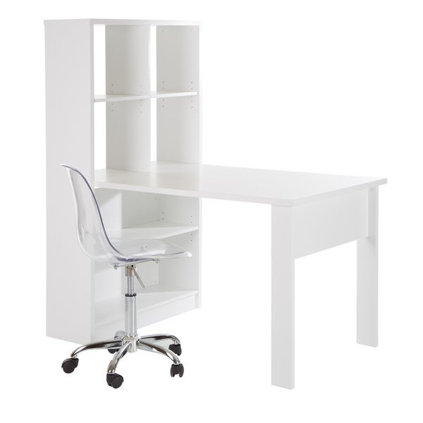 South Shore Furniture Annexe Home Office Computer Desk: South Shore Annexe Work Desk And Storage Unit Combo With