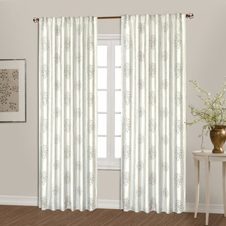 Luxury Collection Starburst Sack Tab Top Lined Embroidered Curtain Panel Pair