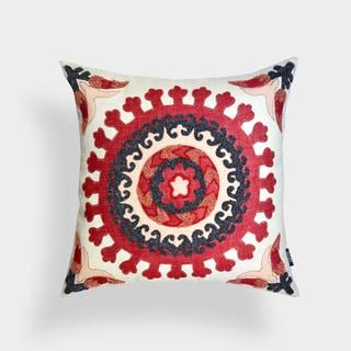 Savannah Red Suzani 20-inch Pillow