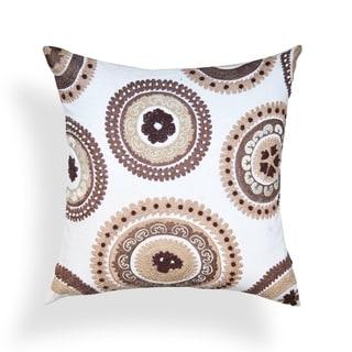 Maryam Brown/ White Suzani 20-inch Pillow