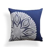 Caitlin Indigo Crochet Motif 20-inch Pillow