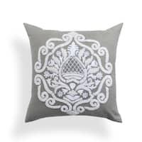 Brigid Grey Baroque 20-inch Pillow