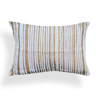Judith Natural Brown Jute Lace 14 x 20 Pillow