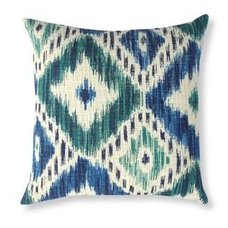 Elvira Ink Blue Ikat 20-inch Pillow