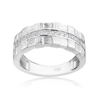 Andrew Charles 14k White Gold 1/5ct TDW Diamond Modern Band Ring