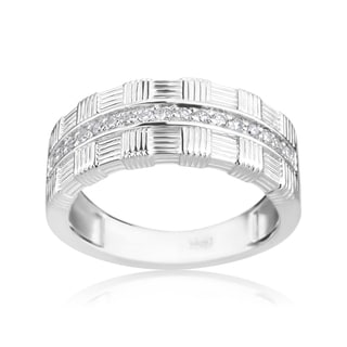 Andrew Charles 14k White Gold 1/5ct TDW Diamond Modern Band Ring (H-I, SI2-I1)