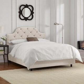 Skyline Furniture Talc Linen Tufted Bed
