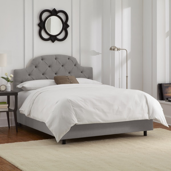 skyline furniture grey linen tufted bed free shipping today