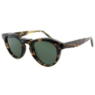 Celine CL 41372 3Y7 Honey Havana Plastic Round Grey Green Lens Sunglasses