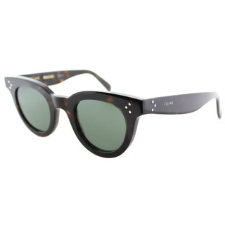 Celine CL 41375 086 Dark Havana Plastic Fashion Grey Green Lens Sunglasses