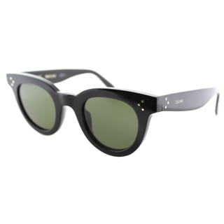 Celine CL 41375 807 Black Plastic Fashion Green Lens Sunglasses
