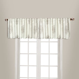 Starburst Lined Embroidered Back Tab Coordinating Straight Valance