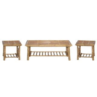 Folding Bamboo Coffee and End Table Set (Vietnam)