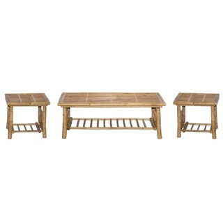Handmade Folding Bamboo Coffee and End Table Set (Vietnam)