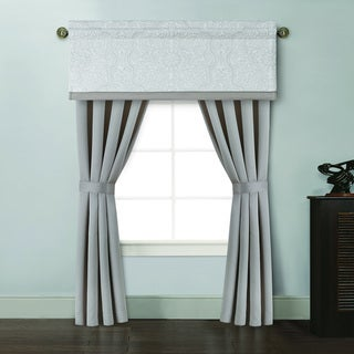 Vienna Ivory/ Taupe 84-Inch Curtain Panel