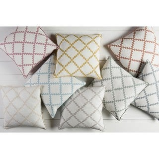 Decorative Gish 22-inch Poly or Down Filled Pillow
