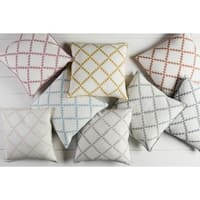 Decorative Gish 20-inch Poly or Feather Down Filled Pillow