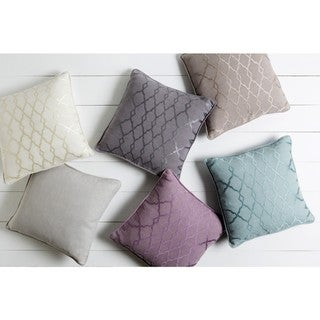 Decorative Fong 20-inch Poly or Feather Down Filled Pillow