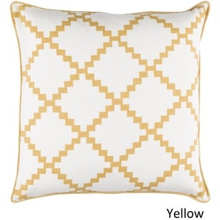 Decorative Gish 18-inch Poly or Feather Down Filled Pillow