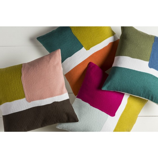 Decorative Minh 22-inch Poly or Feather Down Filled Pillow. Opens flyout.