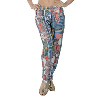 Special One Women's Multi Bohemian Print Jogger Pants with Side Pockets