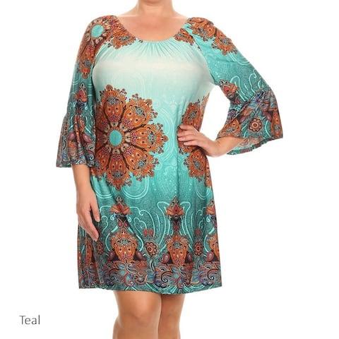 MOA Collection Women's Plus Size Short Dress