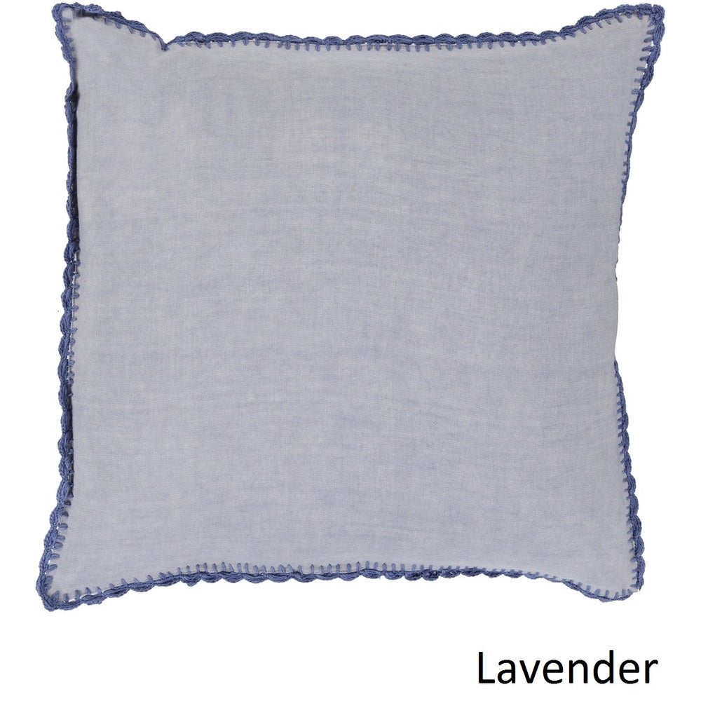 Shop Decorative Prater 22-inch Poly or Feather Down Filled Pillow - Overstock - 11468723