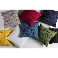 Decorative Gion 18-inch Poly or Down Filled Pillow