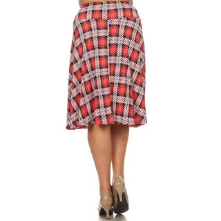 MOA Collection Plus Size Plaid Skirt
