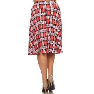MOA Collection Plus Size Plaid Skirt
