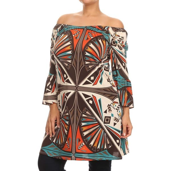 Shop MOA Collection Women\'s Plus Size Tribal Dress - On Sale ...