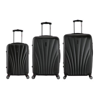 InUSA Chicago Collection 3-piece Lightweight Hardside Spinner Luggage Set