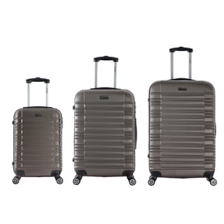 InUSA New York Collection 3-piece Lightweight Hardside Spinner Luggage Set