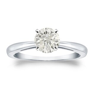 Auriya Platinum 3/4ct TDW Round Diamond Solitaire Engagement Ring (More options available)