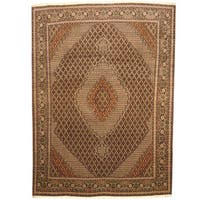 Handmade Herat Oriental Persian Tabriz Wool/Silk Rug  - 8'2 x 11'3 (Iran)