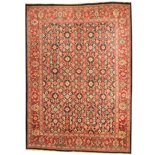 Herat Oriental Persian Hand-knotted 1960s Semi-antique Mahal Wool Rug (9' x 12'2)