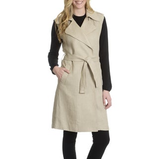 Montreal Women's Sleeveless Belted Trench