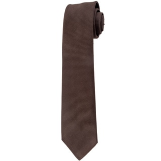 Davidoff 100-percent Silk Brown Geo Print Neck Tie