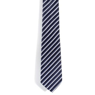 Davidoff 100-percent Silk Striped Blue/ White Neck Tie