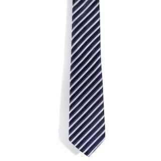 Davidoff 100-percent Silk Striped Blue/ White Neck Tie